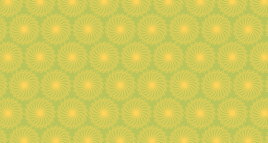 Lime Retro Floral