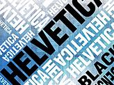 Helvetica poster Blue