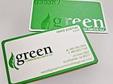 Green Silk business Cards