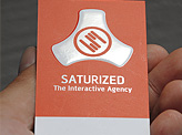 Saturized business card