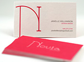Novia 24pt Business Cards
