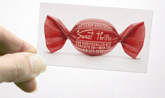 Candy Store Dentist Business Card