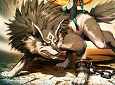 Zelda Midna and Wolf Link