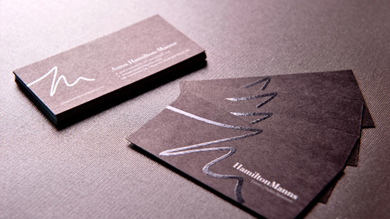 Anna Hamilton Manns business card