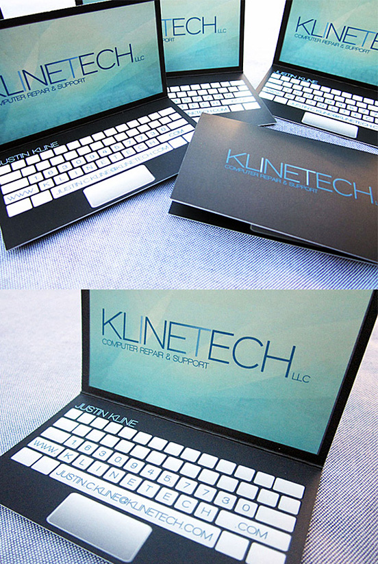 Laptop Design Business Card