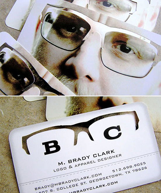 M Brady Clark Business Card