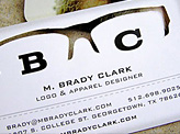 M Brady Clark Business Card