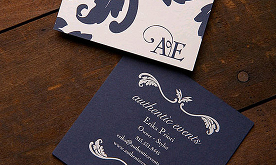 Authentic Events Business Card