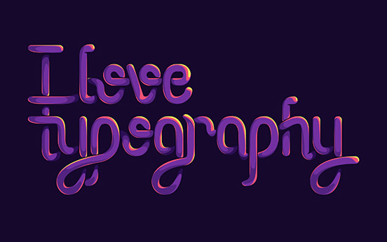 I Love Typegraphy