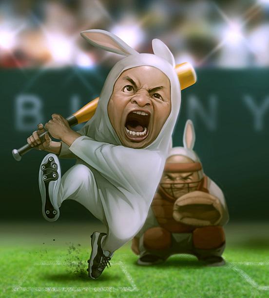 The Bunny Baseball Team