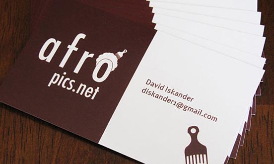 Afropics.net Business Card