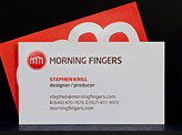 Morning Fingers Businesscard