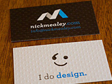 Nick Mealy Business Card