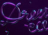 Dreams come true Neon Type