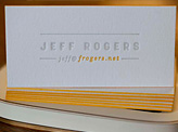 Edge Painted Letterpress