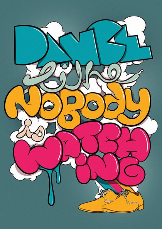 Hayes Typographic Poster