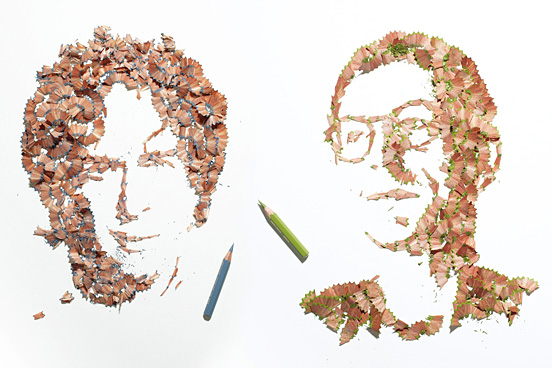 Pencil shaving portraits