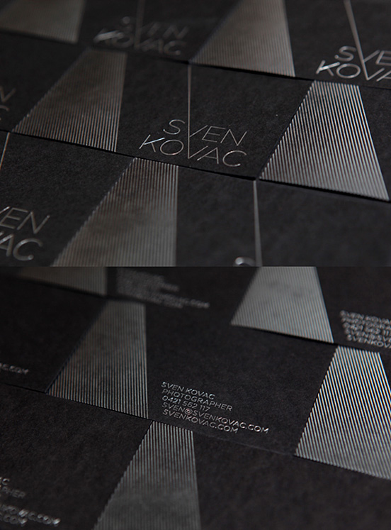 Black Silver Businesscard