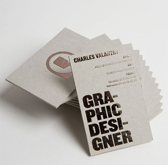 Charles Valantin Businesscard
