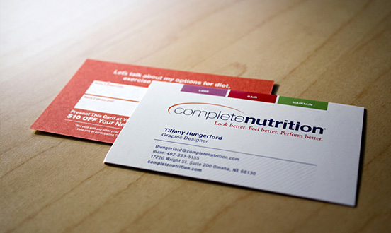 Complete Nutrition Business Card