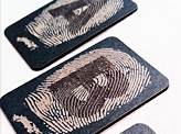 Fingerprint Alphabet Businesscards