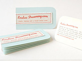 Hand Stitched Businesscards