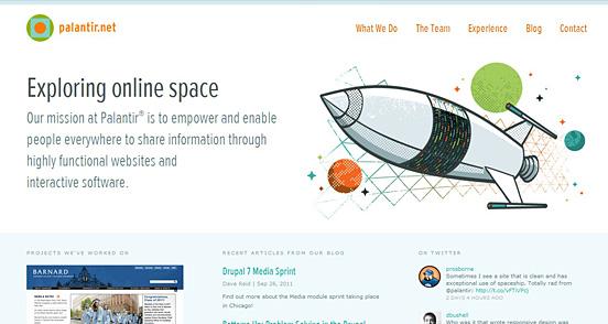 Palantir   Website Showcase   The Design Inspiration