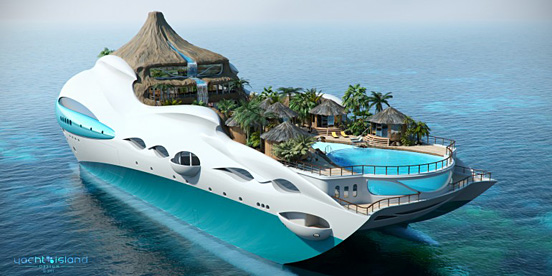 Create Your Own Tropical Yacht Island Paradise