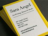 Yellow Letterpress Card