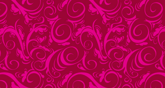 Curly Whirly Spiral Damask