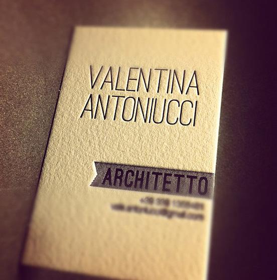 Valentina Antoniucci Business Card