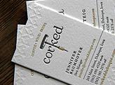 Corked Letterpress Business Card