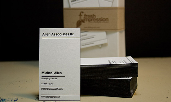 Executive Letterpress Business Card