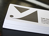 Yumi Asai Letterpress Business Card