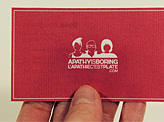 Apathy is Boring Business Card
