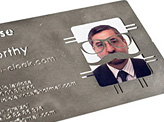 Disguise the Unworthy Business Card