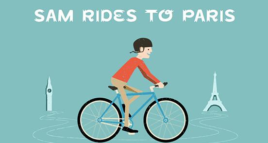 Sam Rides To Paris