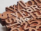 Wooden Letterpres Calendar