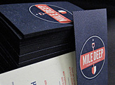 Mile Deep Films Business Card