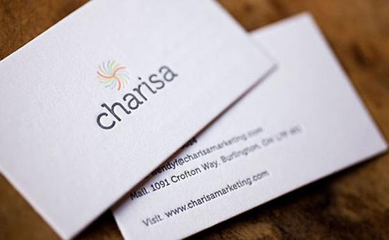 Charisa Marketing Business Card