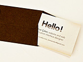 Letter Business Card
