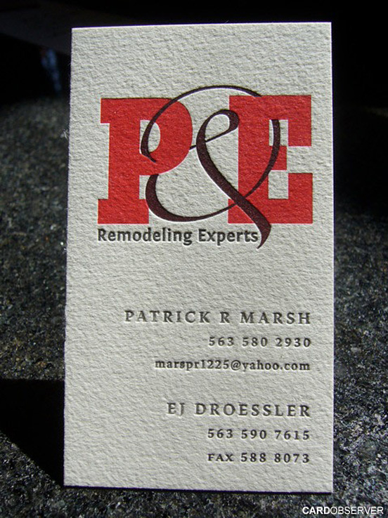Letterpressd Business Card