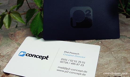 P2 Concept business card