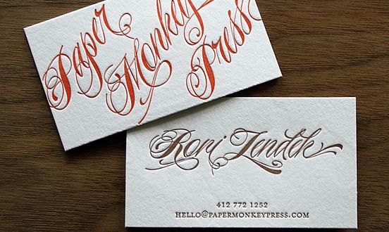 Paper Monkey Press Business Card