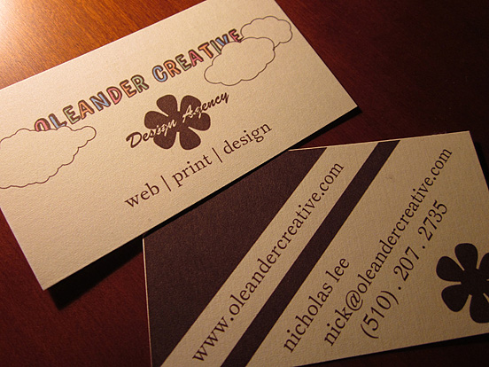 Oleander Creative Business Card
