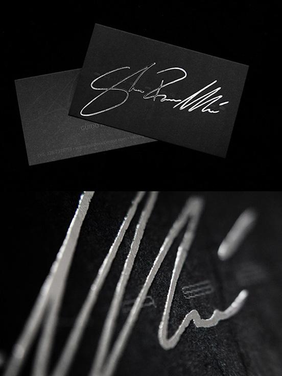 Silver Foil Business Card