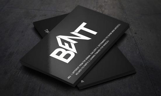 Bent Business Card