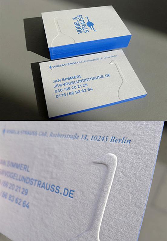 Blue Edged Letterpress