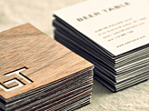 Beer Table Business Card