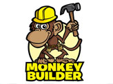 Monkey Construction Worker Cartoon